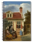 A Group At The Site Behind A House Spiral Notebook