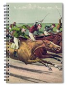 A Head And Head Finish  Spiral Notebook