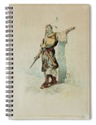 A Moorish Soldier Before A Sunlit Wall Spiral Notebook