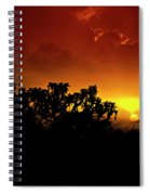 A Red Hot Desert Sunset  Spiral Notebook