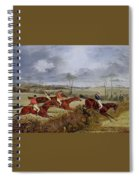 A Steeplechase - Near The Finish Henry Thomas Alken Spiral Notebook