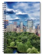 A Summer Day In Boston Spiral Notebook
