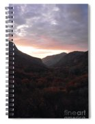 A Sunset View Through A Valley In The Southwest Foothills Of The Sierra Nevadas Spiral Notebook