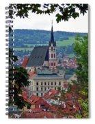 A View Of Cesky Krumlov In The Czech Republic Spiral Notebook
