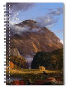 A View Of The Mountain Pass Called The Notch Of The White Mountains Spiral Notebook