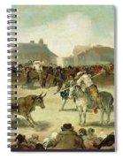 A Village Bullfight Spiral Notebook