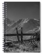 Abandoned Wagon In The High Sierra Nevada Mountains Spiral Notebook