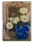 Abbott Graves 1859-1936 Flowers In A Blue Vase Spiral Notebook