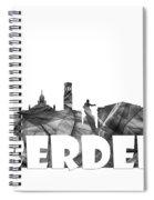 Aberdeen Scotland Skyline Spiral Notebook