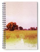 Abstract Beautiful Tree And Landscape For Background. Spiral Notebook