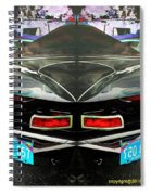 Abstract Black Car Spiral Notebook
