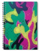 Abstract Camo Spiral Notebook