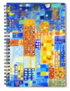 Abstract City Spiral Notebook