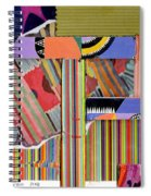 Abstract Collage Spiral Notebook
