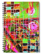 Abstract Colorful Spiral Notebook