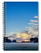 Abstract Early Morning Sunrise Over Farm Land Spiral Notebook