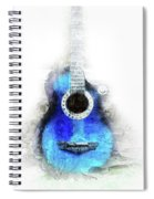 Abstract Guitar In The Foreground Close Up On Watercolor Painting Background. Spiral Notebook