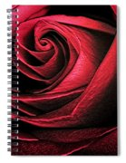 Abstract Rose Spiral Notebook