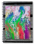 Acrylic Pouring Spiral Notebook