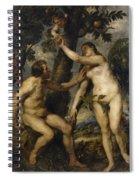 Adam And Eve Spiral Notebook