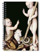 Adoration Of The Child Jesus By St John The Baptist Spiral Notebook