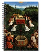 Adoration Of The Mystic Lamb Spiral Notebook