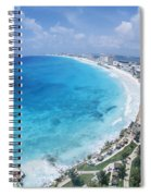 Aerial Of Cancun Spiral Notebook