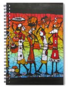 African Woman Carrying On Head Spiral Notebook