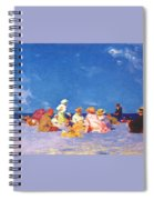 afternoon fun Edward Henry Potthast Spiral Notebook