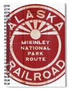 Alaska Railroad Aged Spiral Notebook