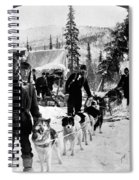 Alaskan Dog Sled, C1900 Spiral Notebook