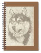 Alaskan Malamute And Pup Spiral Notebook