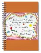 Albert Camus Doodle Quote Spiral Notebook