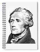 Alexander Hamilton - Founding Father Graphic  Spiral Notebook