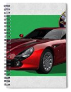 Alfa Romeo Zagato  T Z 3  Stradale With 3 D Badge  Spiral Notebook