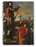 Allocution Of Marquis Del Vasto To His Troops Spiral Notebook