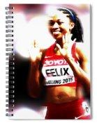 Allyson Felix Spiral Notebook