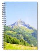 Alpine Mountain Peak Landscape. Spiral Notebook