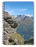 Alps Mountain Landscape  Spiral Notebook