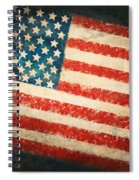 America Flag Spiral Notebook