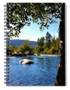 American River Through The Trees Spiral Notebook