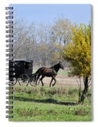 Amish Buggy Late Fall Spiral Notebook