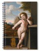 An Angel Holding A Guitar Spiral Notebook