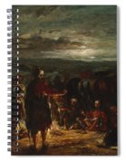 An Arab Camp At Night Spiral Notebook