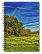 An Autumn Golf Day Spiral Notebook