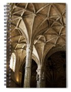 Lisbon Cathedral's Ancient Arches  Spiral Notebook
