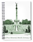 Angel Of Peace Memorial, Munich, Germany, 1903 Spiral Notebook