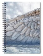 Angel Wing Spiral Notebook