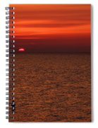 Angler In Summer Sunset Spiral Notebook