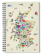 Animal Map Of Scotland For Children And Kids Spiral Notebook